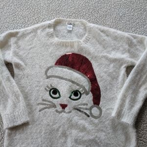 Women's holiday cat ugly sweater